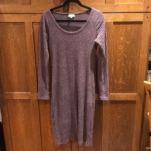 Wilfred Free M ribbed sweater stretch dress